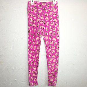 LuLaRoe, NWOT,OSFA, pink Chesire Cat swirl legging